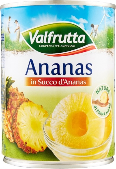 Ananas Naturale a Fette Ml 580